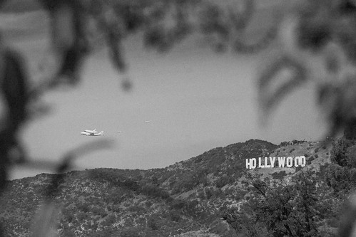 Endeavour and the Hollywood sign