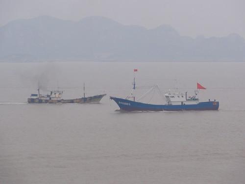 Fishing boats close to Putuoshan