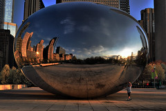 Jack and the Bean... (Seth Oliver Photographic Art) Tags: cloud chicago sunrise reflections illinois nikon midwest gate cityscapes millenniumpark theloop thebean anishkapoor pinoy circularpolarizer chicagoskyline urbanscapes chicagoist cityskylines d90 handheldshot iso250 sunriseshots aperturef90 manualmodeexposure setholiver1 sunriseinchicago 1024mmtamronuwalens 1125secondexposure