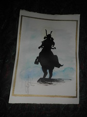 lonely samurai (..AikiDude..) Tags: autumn italy painting holidays drawing september present aikido 2012 valdengo