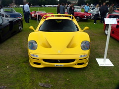 F50 (BenGPhotos) Tags: auto show car yellow italian chelsea ferrari cal legends supercar 2012 v12 f50 hypercar h1fso