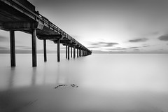 La Jolla Pier LE (Geoffrey Gilson) Tags: white abstract black america canon eos la landscapes pier san long exposure seascapes mark united iii 5d states geoffrey shores jolla scripps gilson diege
