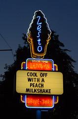 Zesto (davidwilliamreed) Tags: restaurant twilight nightshot availablelight drivein neonsign bluehour afterdark zesto