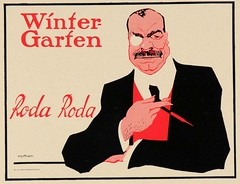 Winter Garten (1918) (Susanlenox) Tags: berlin illustration vintage germany advertising poster glamour publicidad alemania actor plakat wintergarten apollotheater rodaroda binocle cartelrtol harrywalden stephankrotowski