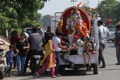IMG_9132 (Rahul Gaywala) Tags: blue boy red india color green girl car festival fun dance team god flag poor daughter ganesh tricolor anita abhishek priyanka visarjan ganpati surat tiranga adajan gaywala