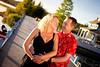 Mademoiselle ~M~ & Mister T (Michel Waltrowski) Tags: sunset rouge soleil pregnancy lifestyle lac pregnant centerparcs grossesse enceinte ponton lacdailette