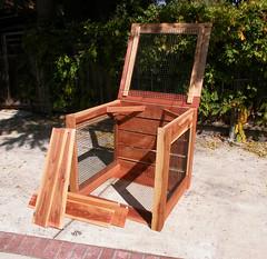 "1-Bin Redwood Compost Bin - panels off • <a style=""font-size:0.8em;"" href=""https://www.flickr.com/photos/87478652@N08/8049149357/"" target=""_blank"">View on Flickr</a>"