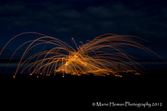 Wire Wool Spinning (Homan Photography) Tags: nightphotography beachshots wirewoolspinning