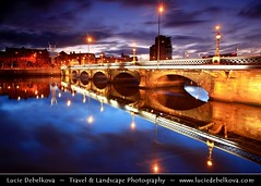 UK - Northern Ireland - Belfast - City waterfront area - Queens Bridge over River Lagan at Dusk - Twilight - Blue Hour ( Lucie Debelkova / www.luciedebelkova.com) Tags: world uk trip travel vacation holiday tourism beautiful wonderful nice fantastic perfect europe tour place unitedkingdom awesome sightseeing eu belfast visit location tourist best journey stunning gb destination northernireland sight traveling lovely visiting exploration incredible touring breathtaking luciedebelkova wwwluciedebelkovacom luciedebelkovaphotography