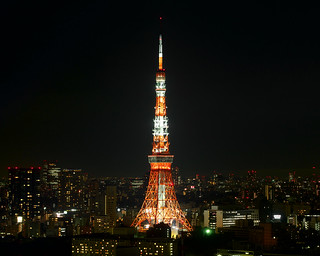 Landmark Light of Summer Version at Tokyo Tower - from Shiodome SIO-SITE
