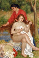 Pierre Auguste Renoir - Bather and Maid, 1901 at Barnes Foundation Philadelphia PA (mbell1975) Tags: portrait usa art museum painting french us gallery museu fine arts muse musee m impressionism museo maid impression impressionist muzeum finearts mze bather museumuseum