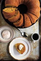 Pumpkin Spice Latte Bundt Cake with Espresso Whipped Cream (diethood) Tags: coffee cake pumpkin spice whippedcream espresso latte bundt
