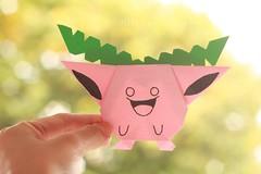 Day 280/366 - Pokemon Hoppip (MPhotography.) Tags: 50mm origami bokeh pastel pokemon canon450d beyondbokeh