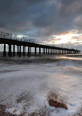 felixstowe (Steve C Photography) Tags: longexposure winter sea storm seaweed beach clouds port sunrise dawn coast pier suffolk movement rocks marker groyne essex felixstowe formations breakwater roughseas felixstoweset