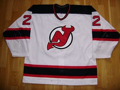 VALERI KAMENSKY GAME USED JERSEY 2001 - 2002 NEW JERSEY DEVILS (Philadelphiaflyers) Tags: new 2001 2002 game devils valeri used jersey kamensky