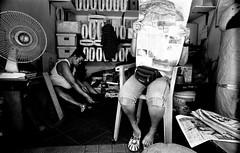 Penang, Malaysia 2012 (Royale Wif Cheese) Tags: monochrome streetphotography rangefinder monotone georgetown malaysia diafine penang blackwhitephotography filmphotography kodaktrix400 leicam3 analoguephotography kobalux21mmf28 selfprocessedbw avenon21mmf28ltm