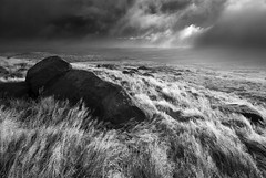 Hill Cloud at West Nab (andy_AHG) Tags: autumn rural sunrise outdoors rocks peakdistrict scenic moors westyorkshire pennines huddersfield britishcountryside northernengland landscapephotography beautifullandscapes westnab hillcloud melthammoor