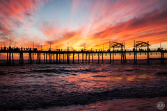 Redondo Beach Sunset (EMIV) Tags: ocean sunset beach canon pier los angeles mark ii 5d redondo 35l