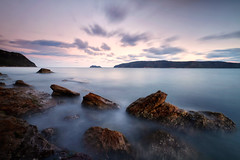 Patonga Blues (< Nick Friend >) Tags: sunset seascape beach water rocks australia nsw centralcoast barrenjoey hawkesburyriver darkcorner northernbeaches summerbay patonga brokenbay westhead patongabeach nickfriend cloudslongexposure