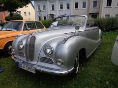 BMW 502 Cabriolet (911gt2rs) Tags: treffen meeting oldtimer 501 baur cabrio v8 silber silver bimmer