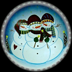 wintery?? (muffett68 ) Tags: notquitetherightseason squaredcircle snowmen bowl
