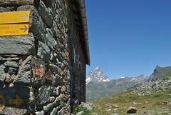 Appoggiandosi al muro. (GiannLui) Tags: santuario laclavalit valledaosta 20072016 2016 esposizionemanuale strada montagna altamontagna cheneil clavalit ruleuf16 regola del 16 regoladel16 sunny16rule chamois vadaosta cervino alpi montecervino