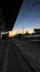 Sunset (Baustelle88) Tags: lovely sunset summer train station panorama colors photoshop railways sky nature mycity people