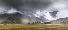 Peering through the clouds lest shapes shall form (lawrencecornell25) Tags: landscape scotland scottishhighlands scenery highlands fivesistersofkintail cloudy raining nature outdoors mountains nikond5