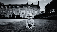 Just chillin' (CMF1983) Tags: child baby infant enfant outdoors romsey uk mottisfont abbey grass nature nikon d3300 tamron wayfarers sunglasses summer national trust august chillin chilling relaxed blackwhite bw flickrsbest monochrome