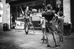 First row. (Txipi Art'z) Tags: human instant black white bw monochrom candid city streetphotography streetphoto street shoot social fuji xsries x100t