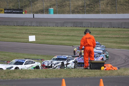 The Ginetta GT4 Supercup at Rockingham, August 2016