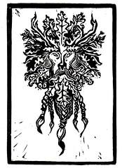 Green Man (lwdphoto) Tags: lance duffin lanceduffin green man greenman nature naturespirit celtic mythology oakking blockprint print printmaking ink art