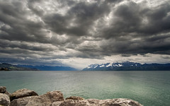Stormy day in Lausanne, test of the new Samyang 12 mm f/2.0 (Adrien Poncet-Montanges) Tags: lausanne clouds nuages fuji xm1 lake lac geneve