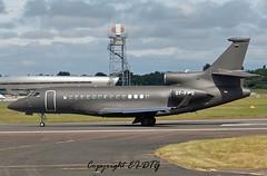 Dassault Falcon 7X OY-FWO Execujet (UK) Limited (EI-DTG) Tags: planespotting farnborough2016 farnboroughairshow2016 fab aircraftspotting 16jul2016 bizjet oyfwo falcon dassaultfalcon trijet
