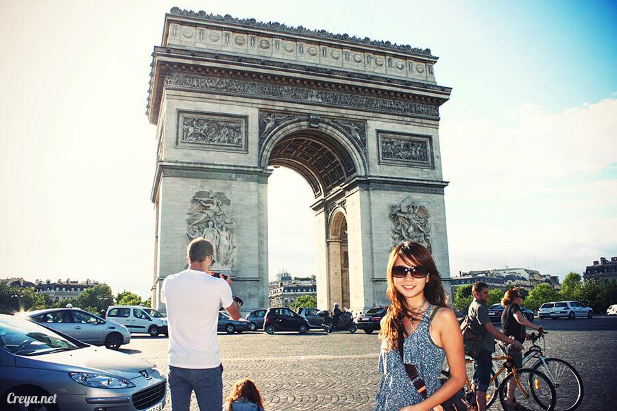 2016.8.28 ▐ 看我的歐行腿▐ 法國巴黎凱旋門、香榭麗舍間的歷史之道 01