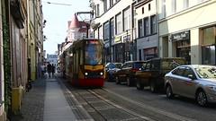 Grudzidz_Straenbahn_Duga_Ecke_Stara_20_08_2016_MVI_1099 (Bernhard Kumagk) Tags: duga stara europa europe polen poland pologne polska graudenz grudzidz bonde elctrico raitioliikenne sporvei sporvogn sprvg streetcar tram tramm tramvaiul trolley tramvay tramwaj villamos tramway tramwaje tranvia trikk   tranbia   tranva sprvagn tramvajus tramvajs tramvia tranvai raitiovaunu strasenbahn  bernhardkusmagk bernhardkussmagk tramwajewgrudzidzu mzkgrudzidz schmalspur narrowgauge 1000mm meterspur metregauge meterspr rozstawmetrowy voiemtrique scartamentometrico meterspor meterspoor  bitolamtrica