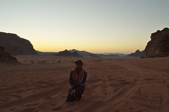 Me at Wadi Rum (Yazan_) Tags: aqaba middleeast desert wadirum wadi rum mountains sunset road track path trail