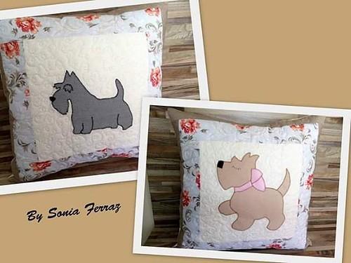 Almofadas #almofadas #personalizados #lovedogs #feitocomamor #patchwork#bysoniaferraz