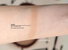 NYC Bronzing Face Powder Sunny swatch (<Nikki P.>) Tags: makeup beauty bronzer