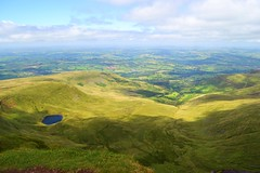 Brecon Beacons (alyrees) Tags: brecon beacons wales pen y fan corn du walking hiking uk great britain mountain highest south trekking trek nature elevation summer august green life sky clouds view nikon d3100 dslr camera trees path pathway people lake village villages
