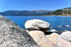Climbing the Rocks (joe Lach) Tags: climbingrocks sandharbor nevada laketahoe rocks mountains lake alpine water waterpictorial beach joelach