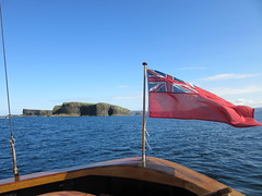 Staffa with Red Ensign