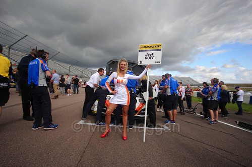 Jack Goff on the grid at Rockingham, August 2016