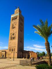 Koutoubia Mosque Minaret - Marrakesh, Morocco (scotthellman) Tags: marrakesh marrakech morocco minaret koutoubia mosque