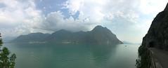 (Paolo Cozzarizza) Tags: italia lombardia bergamo castro lago lungolago panorama cielo riflesso alberi roccia strada