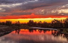 Bridge View (http://fineartamerica.com/profiles/robert-bales.ht) Tags: emmett haybales idaho misc people photo places river scenic states sunrisesunset sunrise sunset treasurevalley gemcounty floodingriver payetteriverreflections water scenicbiway blue americaphotography northamericaphotography pacificnorthwestphotography idahophotography beautiful sensational spectacular scenicriverphotography riverphotography panoramic awesome magnificent peaceful surreal sublime magical spiritual inspiring inspirational canonshooter red clouds robertbales