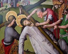 Christ falls on the road to Calvary (detail) (Simon_K) Tags: fitzwilliam museum cambridge university cambridgeshire cambs eastanglia england art painting