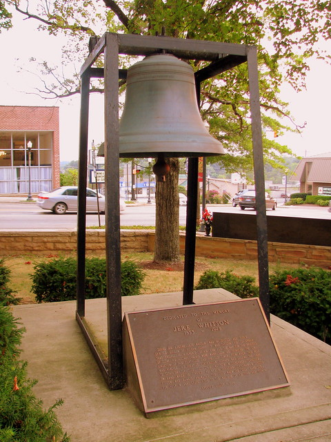Cookeville old Courthouse Bell dedicated to Jere Whitson