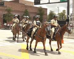 Mounted Patrol (Yakin669) Tags: horse usa elephant america tampa liberty democracy cops florida secret isaac deputy national mounted convention service conservative sheriff press republican obama lawenforcement patrol journalism gop rnc tropicalstorm hurrican protestors riotgear 2012 hillsborough republicannationalconvention ronpaul mittromney grandoldparty rnc2012 protectivefaceshield yakin669