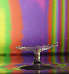 Water Impact (Kerry711) Tags: sculpture macro water lens colours stripes sony drop impact alpha tamron90mm a77